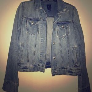 Distressed Jean Jacket from GAP